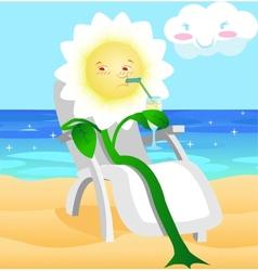 flower in the resort vector image