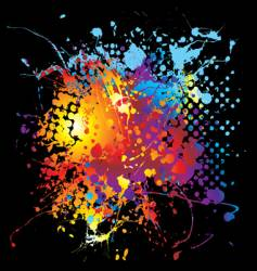 halftone ink rainbow vector image vector image