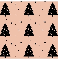 Holiday christmas greeting fir-tree pattern vector