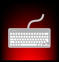 keyboard simple vector image