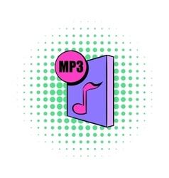MP3 file icon in comics style vector image vector image
