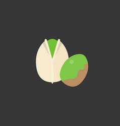Pistachio icon vector