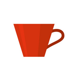 red cup isolated vector image
