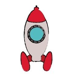 rocket startup launching sketch vector image