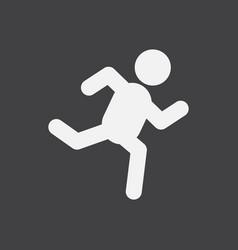 Sprinter icon man run silhouette vector