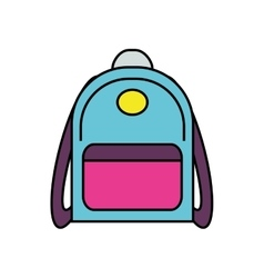 Bag supply instrument school icon graphic vector