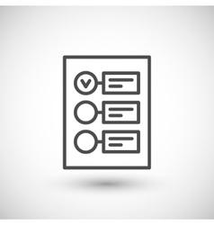 Checklist line icon vector