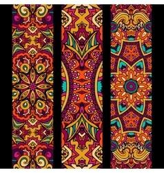 Festive colorful ethnic banner set vector image