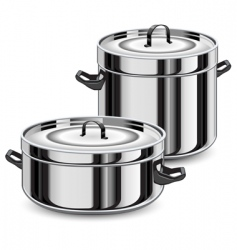 set of pans vector image