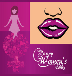 Happy womens day creativity poster vector