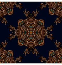 Seamless pattern luxury fabric vector