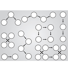 White topic diagrams vector image