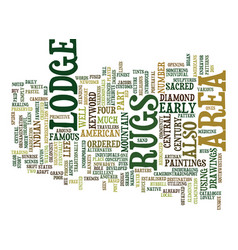 Lodge area rugs text background word cloud concept vector