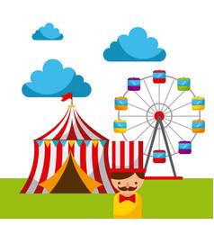 carnival fun fair festival circus park vector image