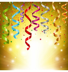 Party Streamers vector image