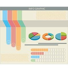 An infograph with colourful graphs vector