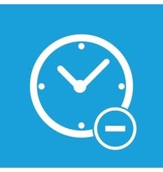 Remove time icon vector