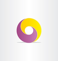 Yellow purple abstract business icon vector