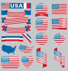Usa flags vector