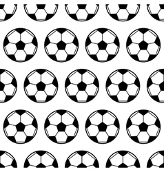 Soccer ball black and white seamless pattern vector