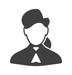 Consultant woman icon vector
