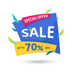 Abstract big sale template - modern vector