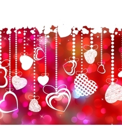 Beautiful valentine day card with copyspace eps 8 vector
