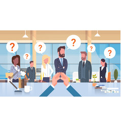 businessman boss looking at his business team with vector image vector image