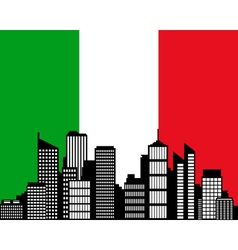 City and flag of italy vector