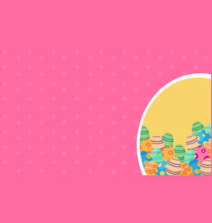 Collection of easter greeting card vector