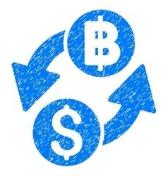 Dollar baht exchange grainy texture icon vector