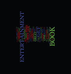 Entertainment book text background word cloud vector