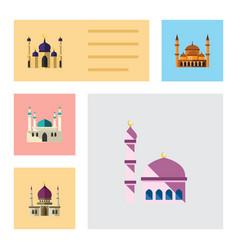flat icon minaret set of mohammedanism mosque vector image vector image