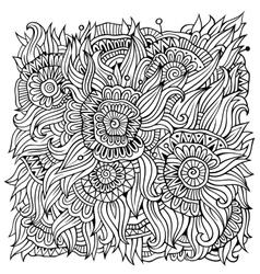 floral ornamental doodles background vector image