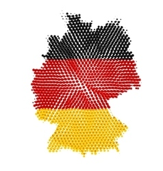 Germany map with halftone effect vector image