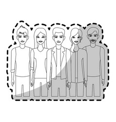 Group of atractive men and women icon image vector