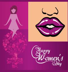 Happy womens day creativity poster vector