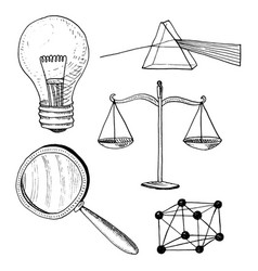 Lightbulb and prism crystal lattice and scale vector