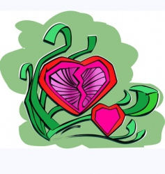 love symbol vector image vector image