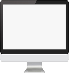 Modern Computer Monitor vector image