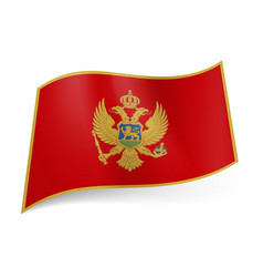 National flag of montenegro red field bordered vector