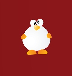 Penguin cartoon color vector