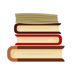 Pile of books isolated on vector