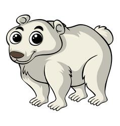 Polar bear with happy smile vector