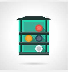 rack with billiard balls flat color icon vector image