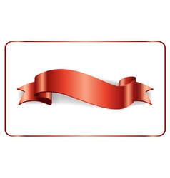 Red ribbon satin banner vector image vector image