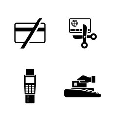 safe payment simple related icons vector image vector image