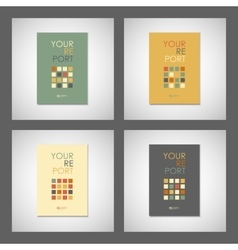 Set simple brochure design for your report vector image vector image