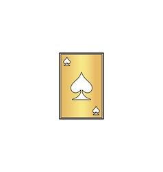 Spades card computer symbol vector