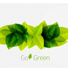 Spring summer green leaves nature background vector image